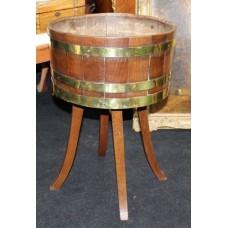 Antique Georgian Brass Bound Oak Cellaret