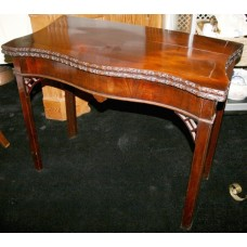 Georgian Chippendale Style Mahogany Card Table