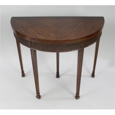 Georgian Style Solid Mahogany Demilune Side Table