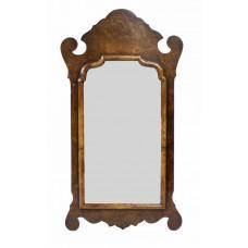 Georgian Style Walnut Wall Mirror