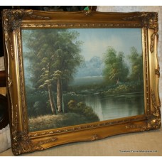 "Gilt Framed 16x12"" Landscape Painting"
