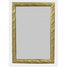 Gilt Leaf Framed Bevelled Glass Wall Mirror 52 x 75 cm