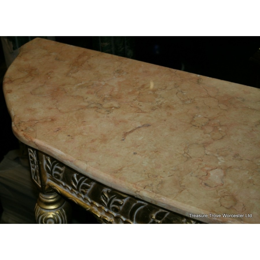 Marble Coffee Table Ornate: Ornate Gilt Marble Topped Side Table