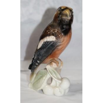 Goebel Porcelain Bird Model Hawfinch