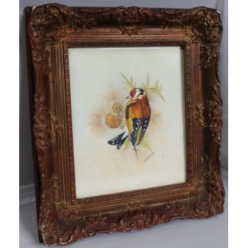 Goldfinch Watercolour Framed by D.Peplow