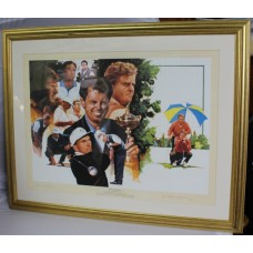 Golf Ryder Cup Victors Limited Edition Print Signed by Bernard Gallacher