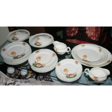 Grindley 1940's England Creampetal Piece Dinner Service