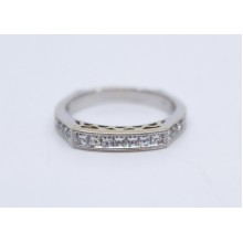 Half Hoop Diamond 14ct White Gold Ring