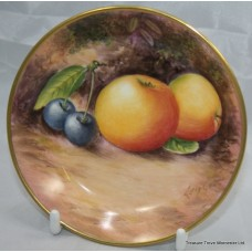 Hand Painted Worcester Fruit Pin Dish by Leighton