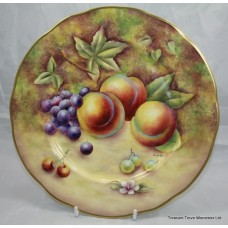 Hand Painted Worcester Fruit Plate by Bryan Cox