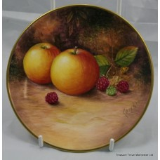 Hand Painted Worcester Fruit Plate by Leighton