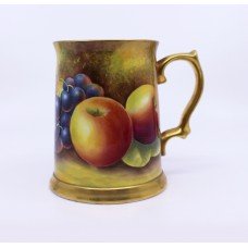 Hand Painted Fruit Tankard by Leaman
