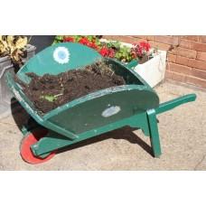 Handmade Wooden & Metal Painted Wheelbarrow Planter