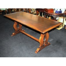 Heavy Antique Style Oak Refectory Table