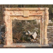 Heavy Carved Songxiang Marble Classical Style Fire Surround