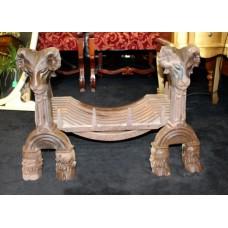 Heavy Ram's Head Cast Iron Swans Nest Dog Grate