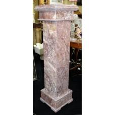 Heavy Rouge Marble Pedestal