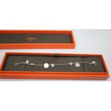 Hermes Rose Gold Sterling Silver Charm Bracelet