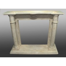 Late 20th c. Cream Marble Fire Surround