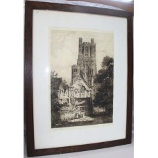 James Alphege Brewer (British) Signed Cathedral Etching Framed