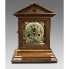 German Oak Cased Mantle Clock by Junghans Wurttemberg c.1900