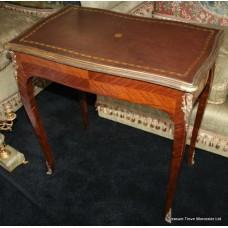 Elegant 19th c. Ladies Writing Table Kingwood Brass Mounts