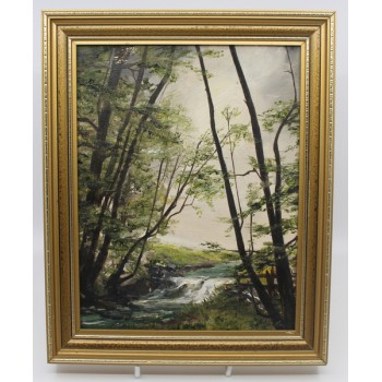 Landscape Painting by Alan King of Malvern Oil on Board