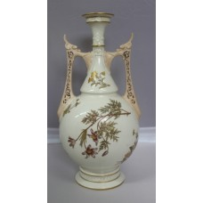 Large 19th c. Royal Worcester 1071 Two Handled Vase 1886