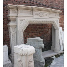 Very Heavy Carved Granite Period Style Fire Surround & Hearth