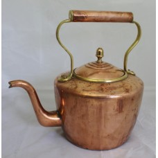 Large Early 19th c. English Copper Kettle