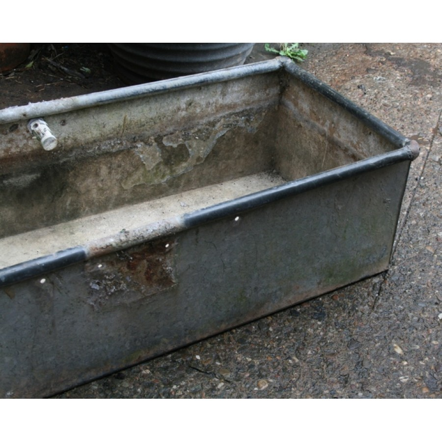 Large Old Galvanized Planter Water Trough