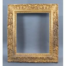 Large Vintage Hand Carved Wood Gilt Picture Frame