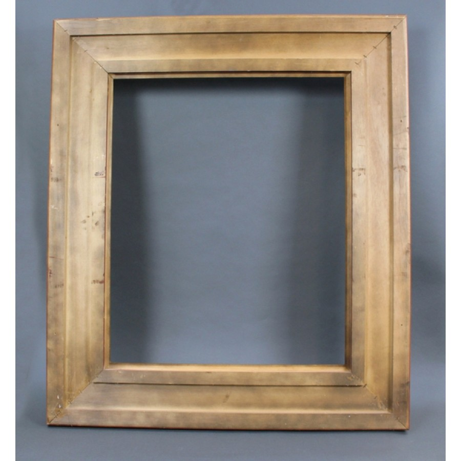 Large Vintage Hand Carved Wood Gilt Picture Frame