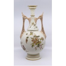 Large Victorian Royal Worcester Two Handled Vase 1071