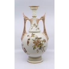 Large Victorian Royal Worcester Two Handled Vase 1071