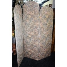 Large Three Fold Upholstered Screen Room Divider