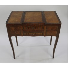 Late 19th c. Parquetry Poudreuse Vanity Table