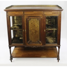 Late Victorian Inlaid Rosewood Display Cabinet