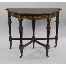 Late Victorian Rosewood Inlaid Side Table