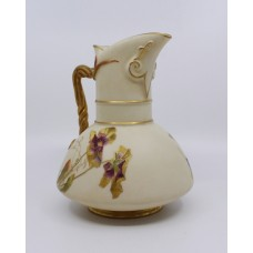 Late 19th c. Royal Worcester Gilded Blush Jug 1891 Model 1378