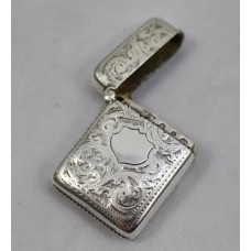 Late 19th c. Silver Vesta Case Birmingham 1898