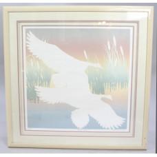"""Limited Edition Artwork """"Honkers Landing"""" Set in Frame"""