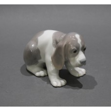 Lladro Gentle Surprise Dog with Butterfly 6210