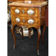 Louis XV Style Serpentine Fronted Chest with Sevres Plaques