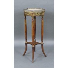 Marble Topped Mahogany Ormolu Mounted Lamp Table c.1900