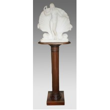 Fine Regency Marble Sculpture of Venus on Mahogany Pedestal