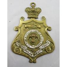 Masonic Brass & Enamel Lodge Badge