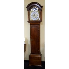 Mid 18th c. Eight Day Oak Longcase Clock by John Taylor of Manchester
