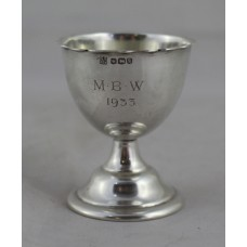 Miniature Silver Footed Cup Sheffield 1933