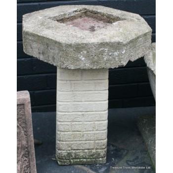 Modern Stone Composite Bird Bath